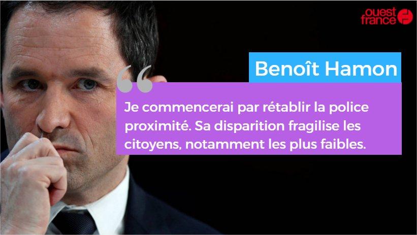 #DebatTF1 @benoithamon : 'Je veux rétablir 5 000 postes de gendarmes et de policiers.' https://t.co/3xQ9MyIncN https://t.co/hdaQctTfn3