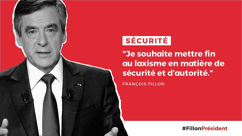 #Sécurité : avec @FrancoisFillon mettons fin au laxisme #LeGrandDebat #FillonPresident https://t.co/kZn1PUFjJi