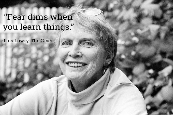 Happy Birthday Lois Lowry, brilliant author of \The Giver\ and more!