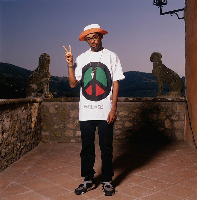 Happy Birthday to Spike Lee, here\s one from Terry O\Neill in Tuscany, 1993.
