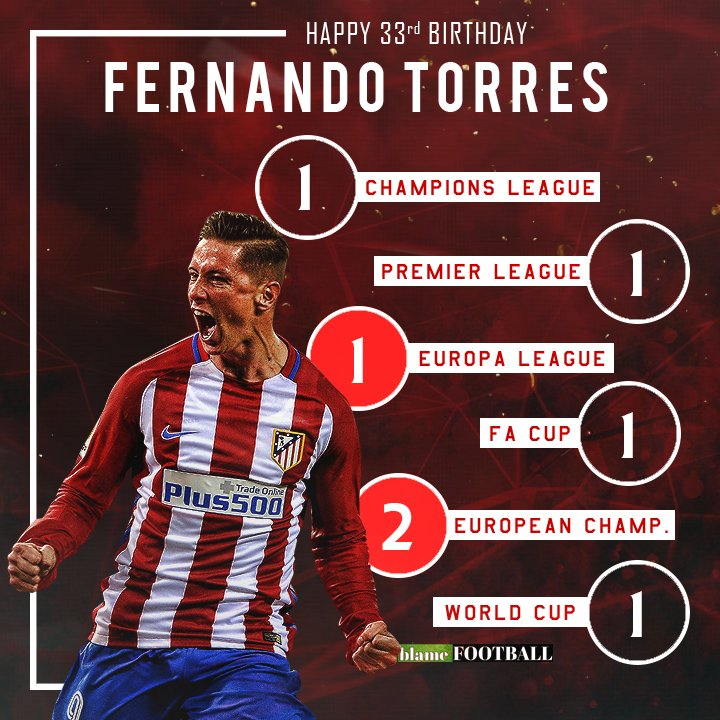 Happy 33rd birthday to Fernando Torres.