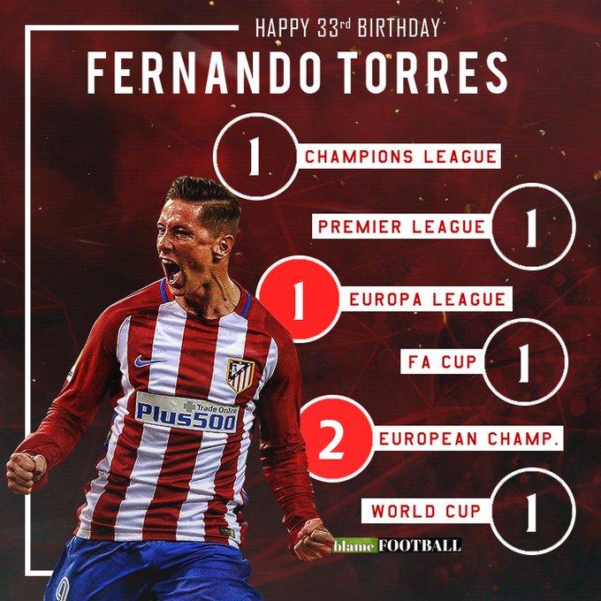 Happy 33rd birthday to Fernando Torres.