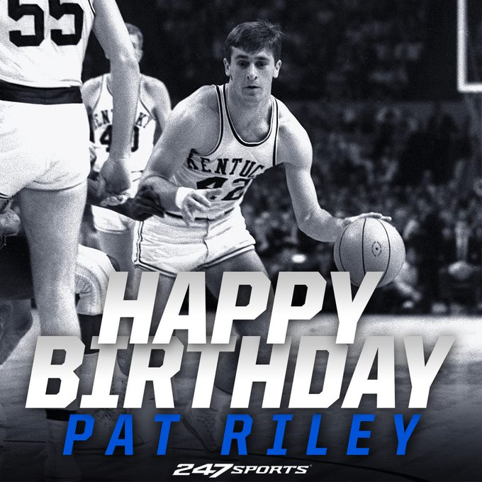 Happy birthday to one of Rupp\s Runts, the legendary Pat Riley.