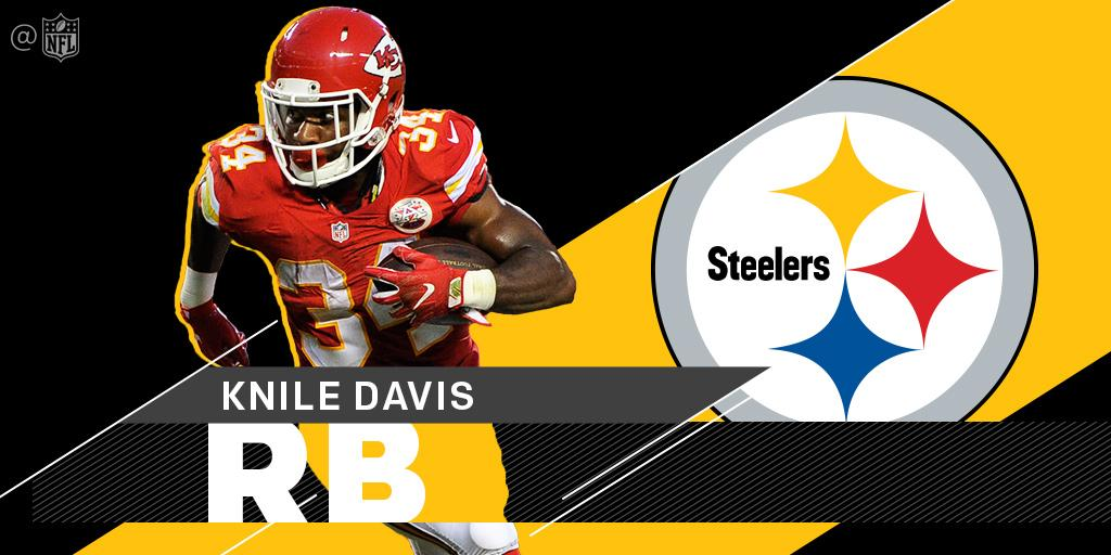 .@steelers sign RB Knile Davis to a one-year contract: https://t.co/U4SisbyDOi https://t.co/GHMFoZkdVi