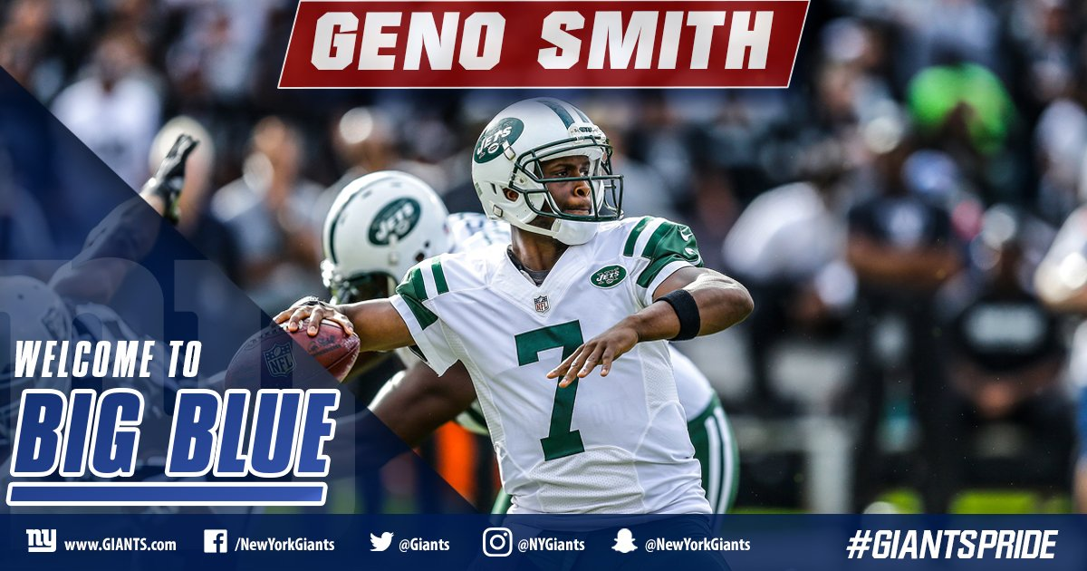 The #Giants have officially signed QB Geno Smith and CB Valentino Blake. ����  DETAILS: https://t.co/hgKwCnZXYm https://t.co/bnCI7n8tUI
