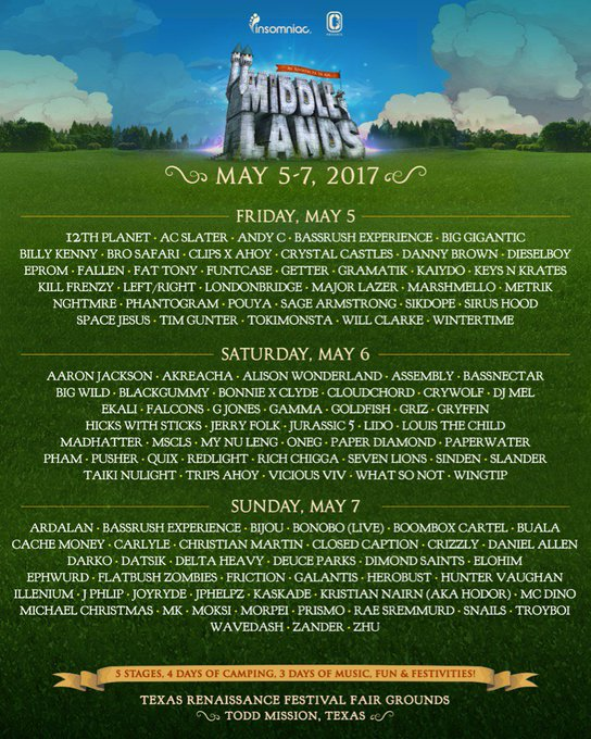 Everyday we grow closer to @Middlelands, I get more excited! Texas here we come! Get your tickets & join
