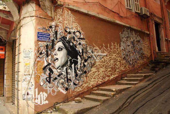 #Mural of Lebanese singer Fayrouz by Yazan Halwani   https://t.co/xduM6zxh7W