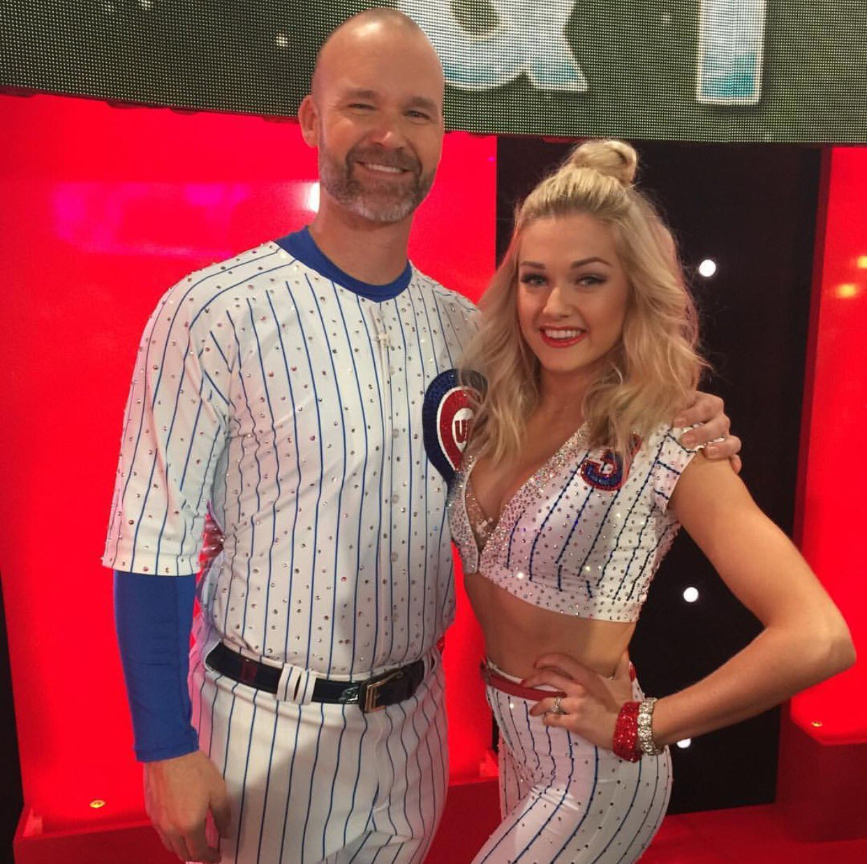 Presenting: David Ross in a bedazzled Cubs uniform for his Dancing with the Stars debut. (via @D_Ross3) https://t.co/PL58LEOq8v