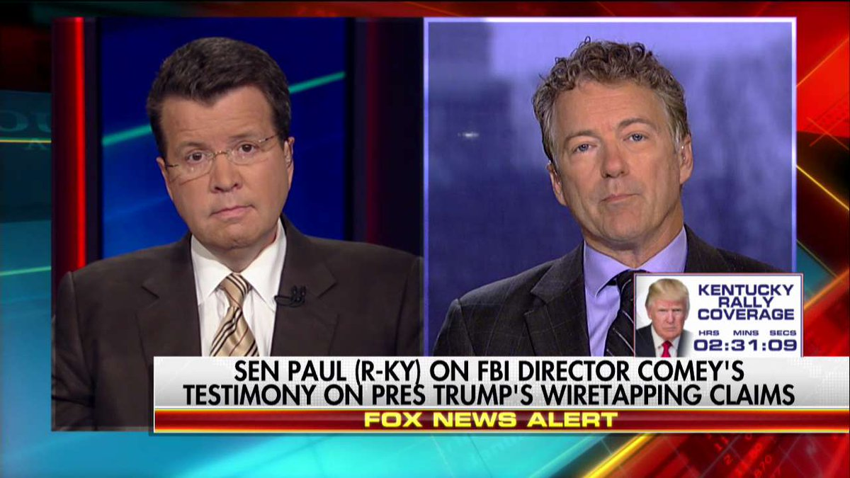 .@RandPaul on Wiretapping Dispute: 'Somebody Was Spying on the @realDonaldTrump Campaign' @TeamCavuto @POTUS https://t.co/KsAN28F4fY