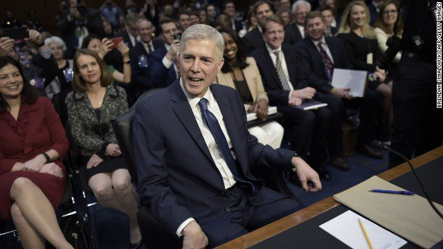 Neil Gorsuch touts his family and roots while Democrats revisit the snub of Merrick Garland https://t.co/X9xtE2TfQD https://t.co/fQZDUlpAOT
