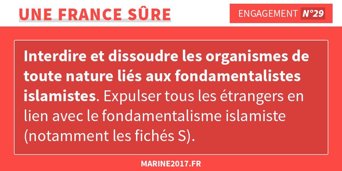 Marine est la seule qui pourra protéger les Français de l'islamisme ! #Marine2017 #DebatTF1 #LeGrandDebat https://t.co/azfNIlMpu1