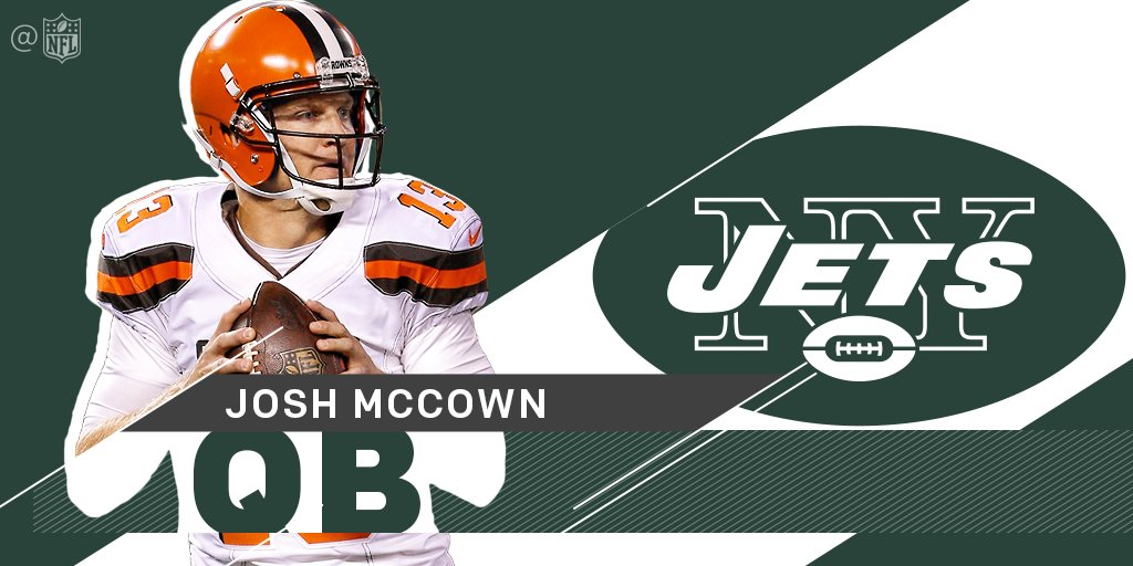 .@nyjets sign @JoshMcCown12 to one-year deal: https://t.co/Z5JxyB9Ob2 https://t.co/1cj4bGgH5v