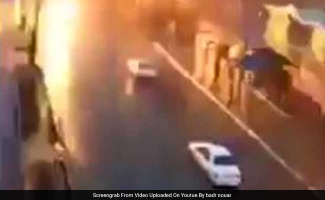 Watch: The Moment A Lightning Bolt Hit A Moving Car In Morocco