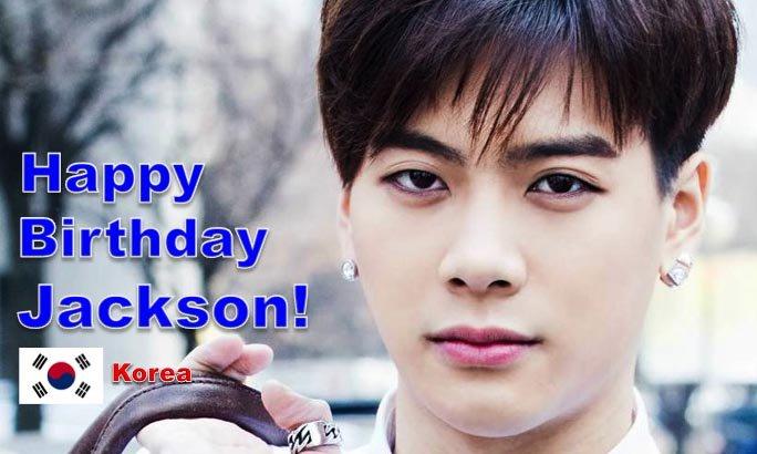 Happy 23rd Birthday to #GOT7's #Jackson! #KINGJACKSONDAY! #neverever @GOT7Official💖🇰🇷🎤🎶🎼🍾🎂🎉🎈✨🌟💫🎇