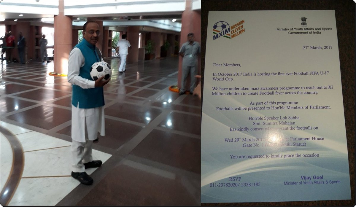 Sports Minister @VijayGoelBJP says government is making all out efforts to promote football.