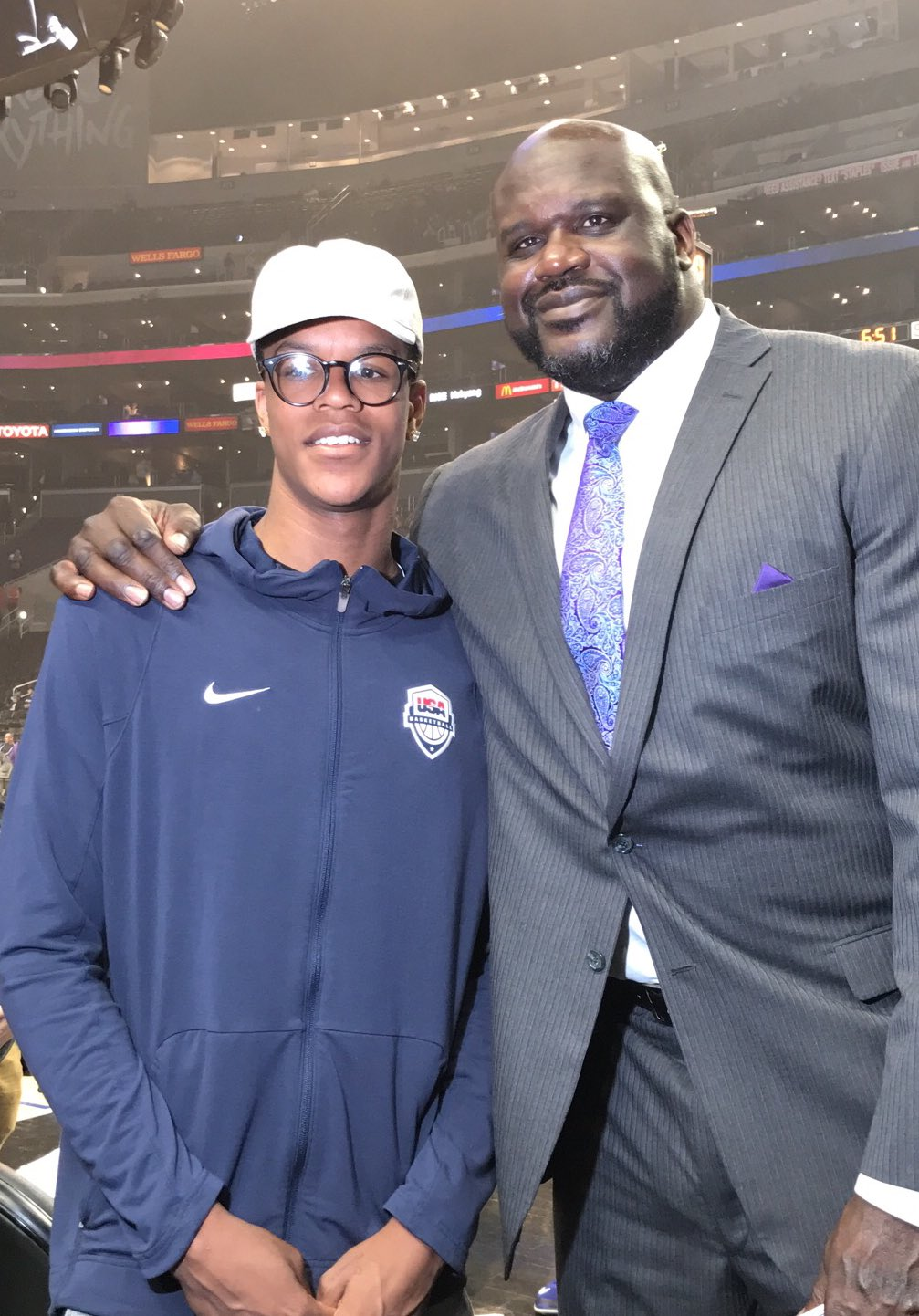 The future... Shareef O'Neal & @SHAQ! #PlayersOnly https://t.co/GI0RIjh4fF