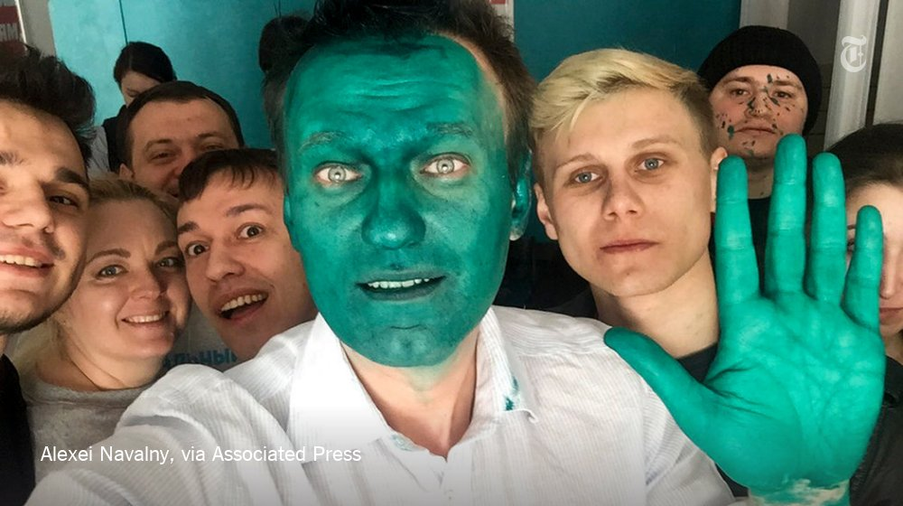 Putin opponent, turned green by unknown assailant, embraces his new superhero look: https://t.co/WkNSc9a2lO https://t.co/I46YJV8KKQ