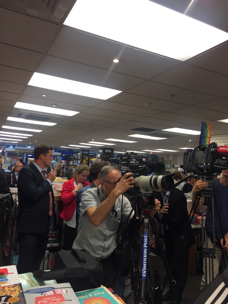 Cameras ready for Nicky Hager's mystery book launch