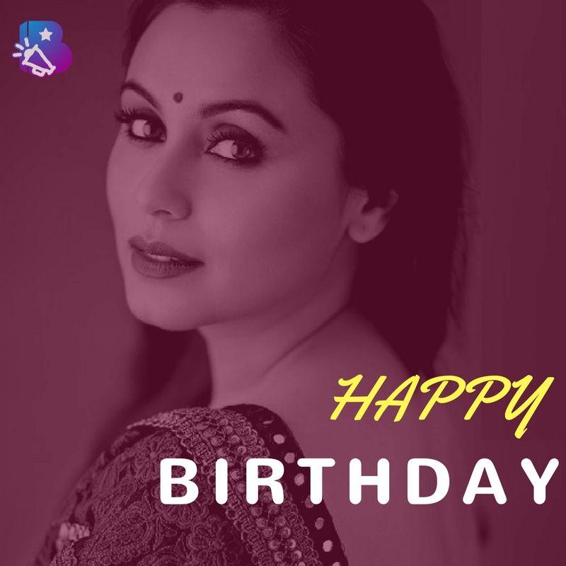 Bollywood Mascot Wishes a Very Happy Birthday to Rani Mukerji