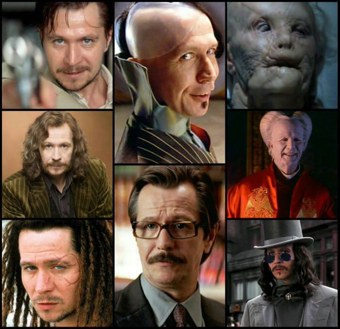 Happy 58th Birthday Gary Oldman! Siriusly a chameleon.