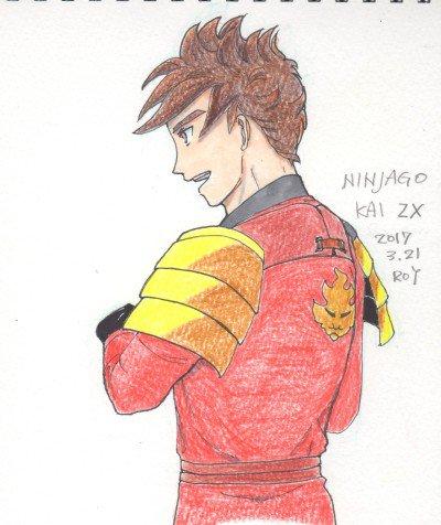 #ninjago  KAI ZX(Fire Zen Extreme)ぼーっとしていて背面の部分鎧と留め具のデザイン間違え