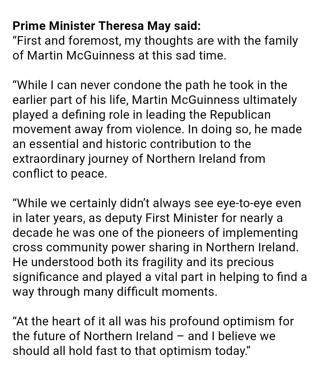 Very well judged statement from PM on McGuinness https://t.co/oYVD1gjCWM