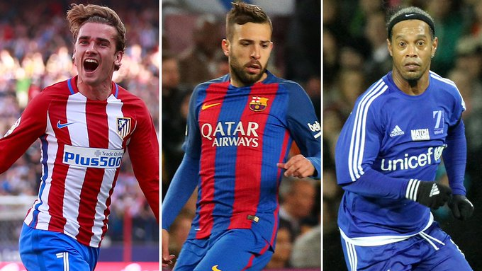 A big happy birthday to:  Antoine Griezmann (26) Jordi Alba (28) Ronaldinho (37)