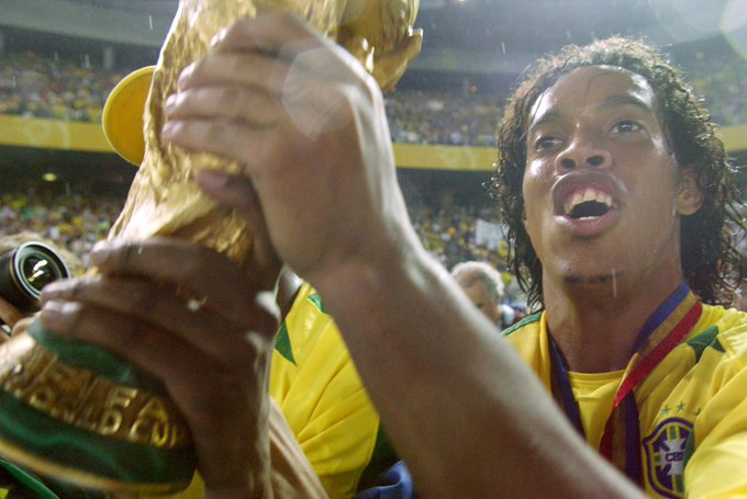 Happy birthday, Ronaldinho Gaucho!!!!  The World Cup winner is 37 today: