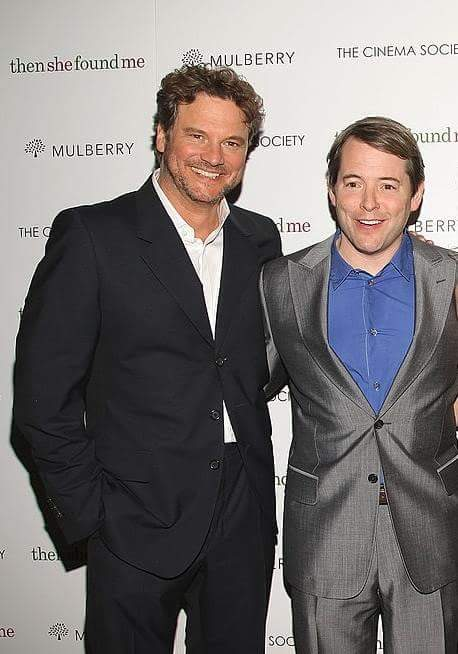 "COLIN FIRTH ADDICTED HAPPY BIRTHDAY, ""MATTHEW BRODERICK\"" ^^"