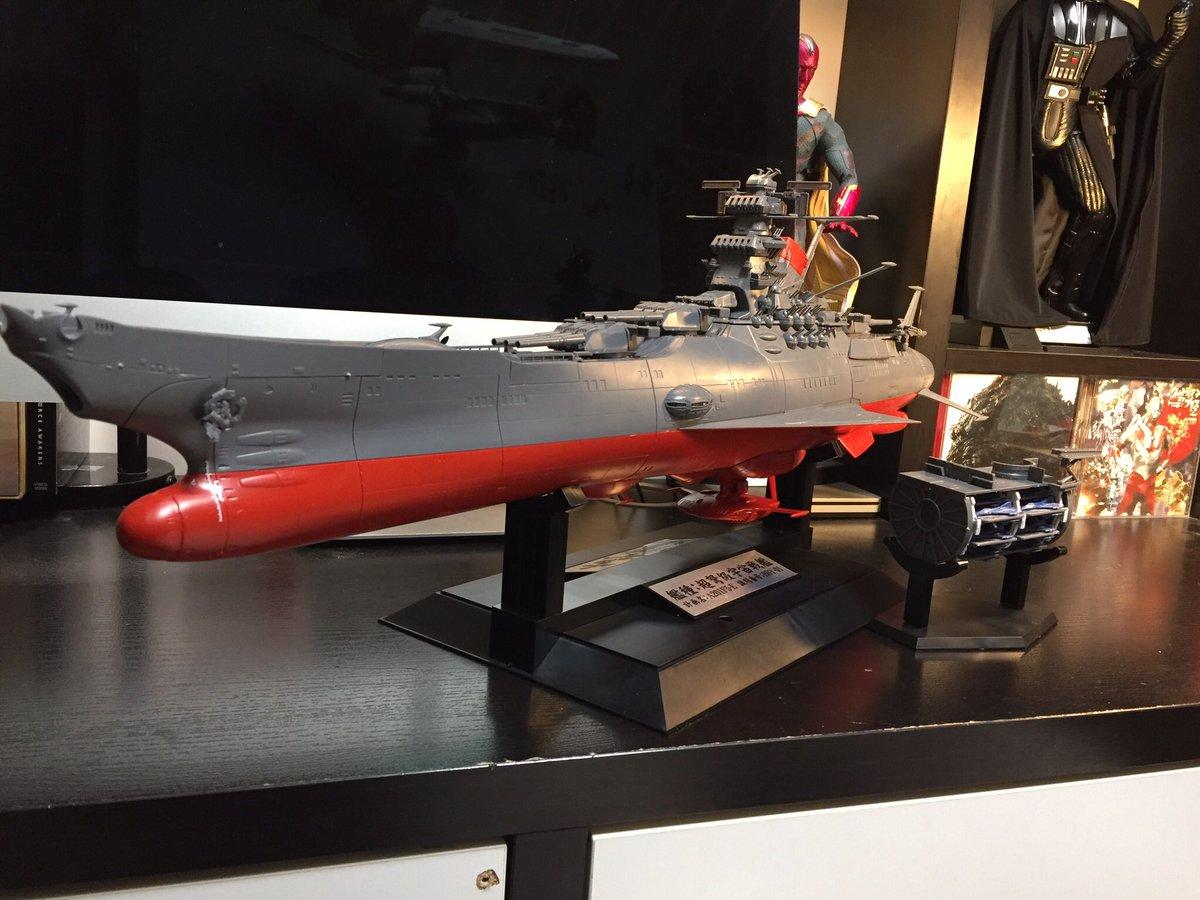 1/500 宇宙戦艦ヤマト2199拡張セット 完成‼️格納庫に安定翼を付属出来るのは感動でっせい!!案外アッサリと出来て