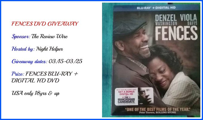 Fences Movie Giveaway