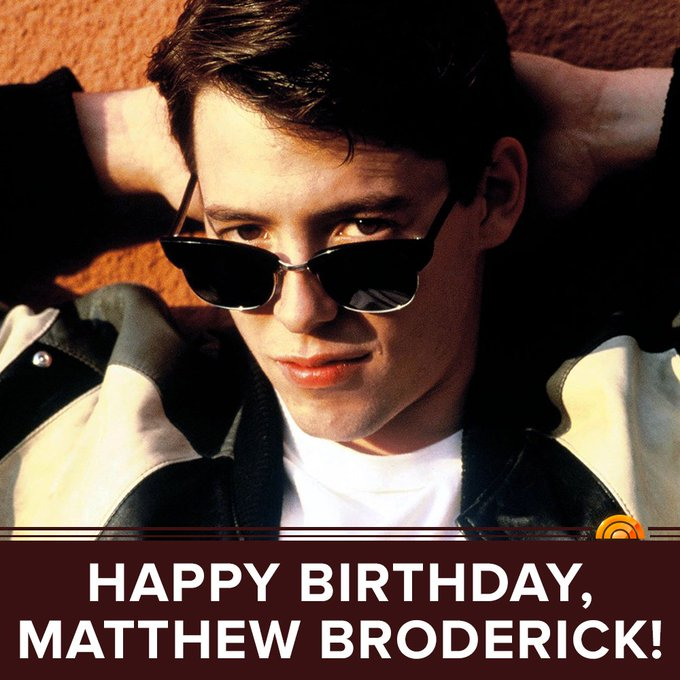 Happy 55th birthday, Matthew Broderick!