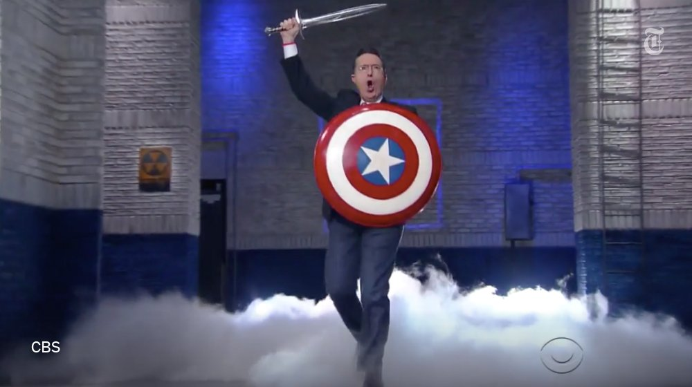 "The other Stephen Colbert is back ""I'm here because America needs me."""