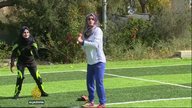 Watch: Palestinian women bring baseball to Gaza