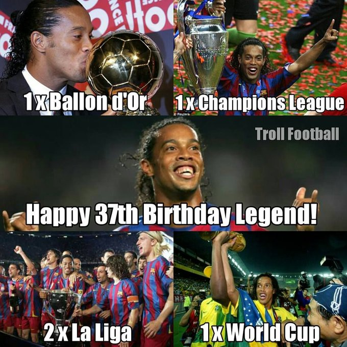 Happy Birthday to Ronaldinho Gaúcho!