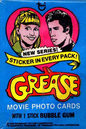 RT @RetroCardTrader: You're the one that I want! #Grease trading cards from 1978. https://t.co/4MCsnGgtrX