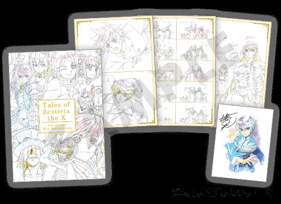 テイルズ オブ ゼスティリア ザ クロス今週末のアニメジャパンにて、ufotableブースで限定グッズ販売&展示&催しが