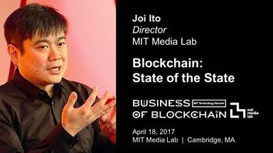 At the Business of the Blockchain event on 4/18, @Joi will present Blockchain: State of the State https://t.co/ZEY2UyVvrn #BizofBlockchain