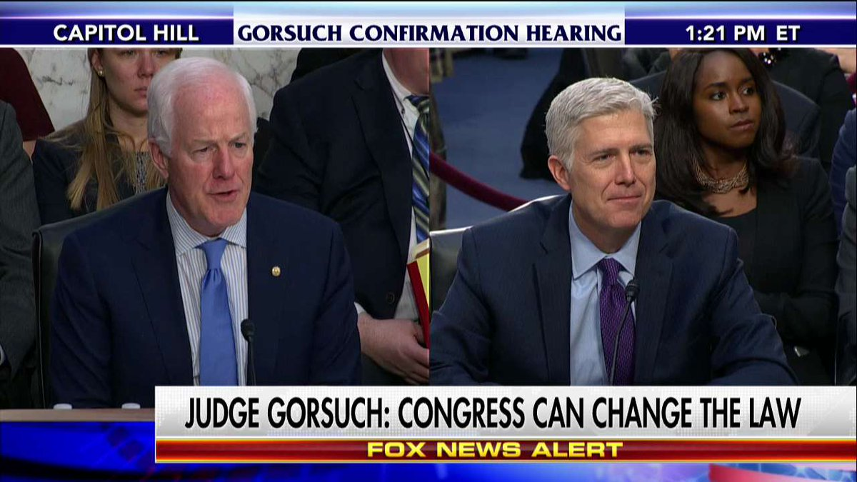 "#JudgeGorsuch ""Too few people can get lawyers to help them with their problem."" #GorsuchHearing"