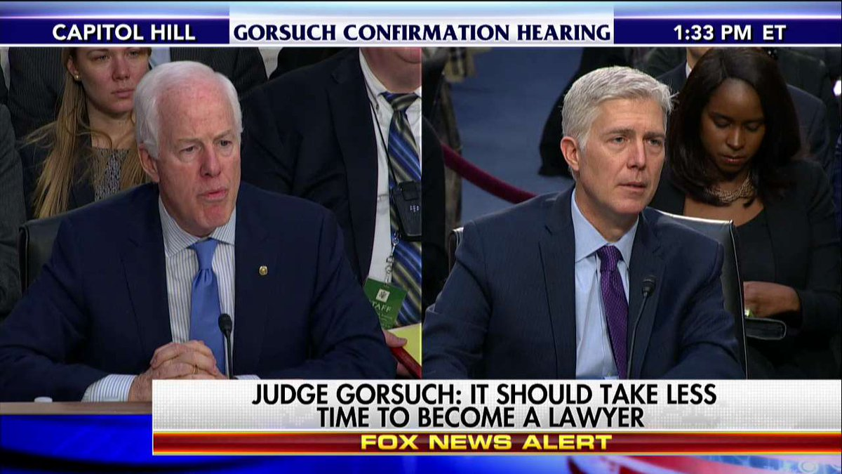 "#JudgeGorsuch ""I do think access to justice, in large part, means access to a lawyer."" #GorsuchHearing"