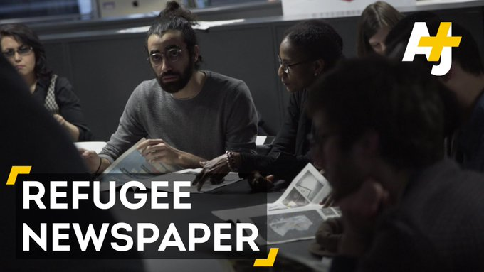 Refugees from 10 different countries ran one of France's biggest newspapers for a day.
