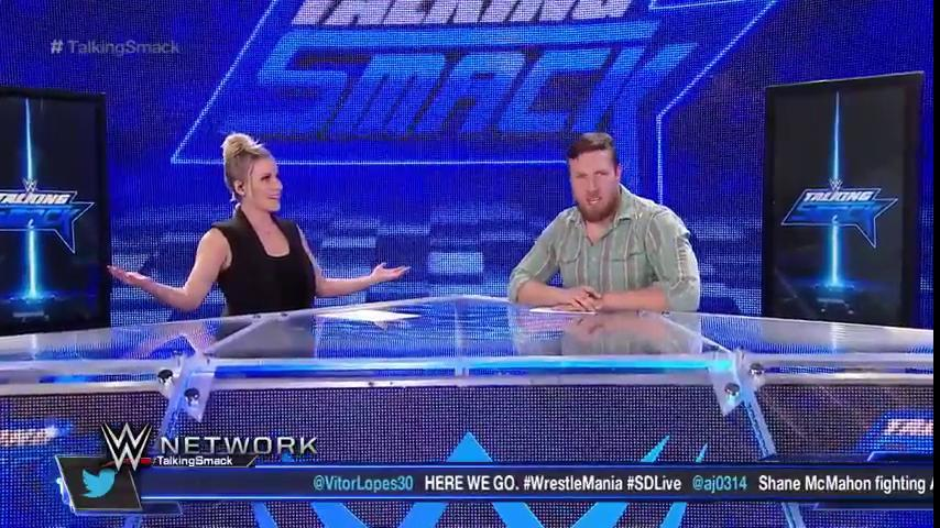 Join @ReneeYoungWWE and @WWEDanielBryan for the lowdown on #SDLive on #TalkingSmack, LIVE NOW on @WWENetwork!