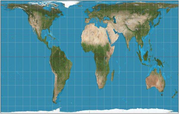 유럽을 기준으로 만들어진 기존의 세계지도가 아닌, 제대로 된 세계의 크기를 보여주는, 피터스 도법으로 그려진 세계지도. 아프리카와 남미의 진짜 크기가 보인다. 알고보면 유럽과 미국등은 훨씬 더 작은 크기. https://t.co/XHmkEBuPde