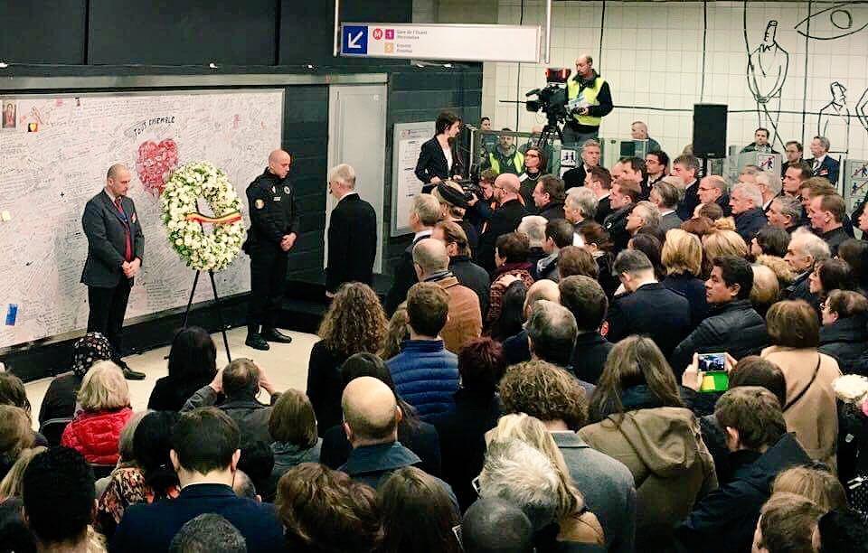 #Maelbeek @STIBMIVB #commemoration of tragic #BrusselsAttacks on #22/03/16 #NeverForget
