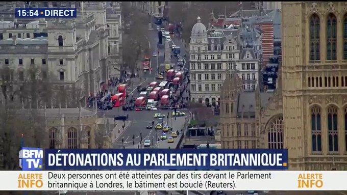 ALERTE INFO. Coups de feu devant le parlement britannique à Londres https://t.co/CBD4rBFWK5