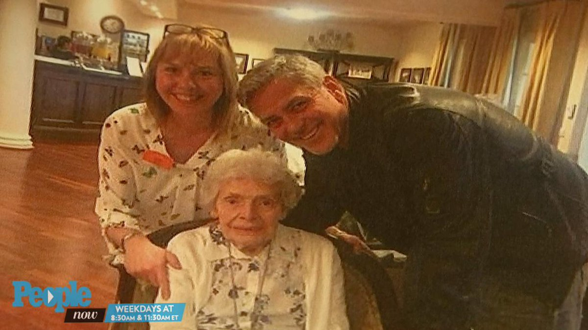 Awww! ? You have to see George Clooney crash this adorable 87-year-old fan's birthday
