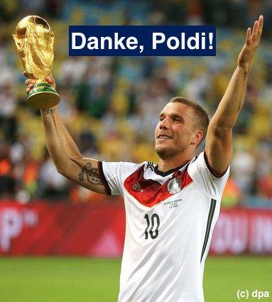 Heute geht einer der besten Botschafter Deutschlands von Bord des @DFB_Team. Danke, Lukas @Podolski10! #TschöPoldi #GERENG #ENGGER