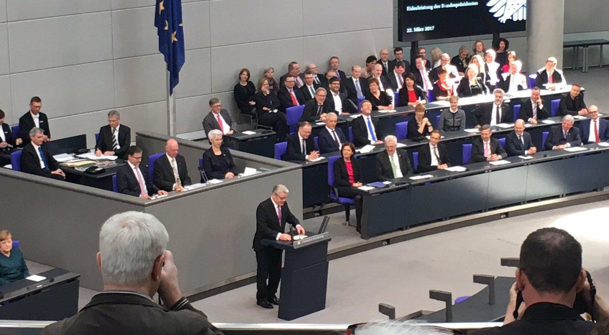 Einmal darf er noch. Seine letzte präsidiale Rede hält Gauck
