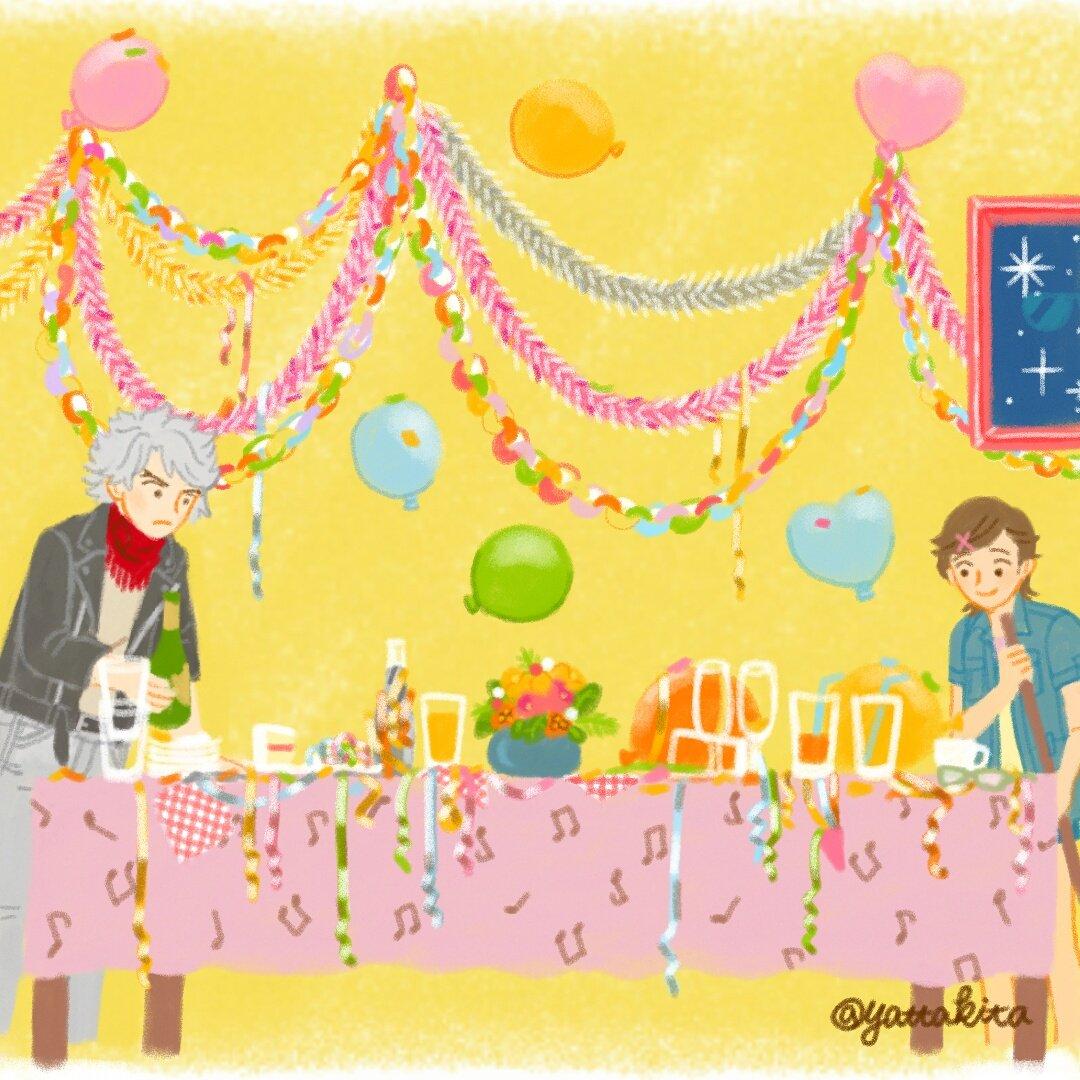 パーティーの後片付け🎉🎈🎊#クラシカロイド #ClassicaLoid#ベト さん #歌苗一日一枚♪ #お絵かき矢田喜多