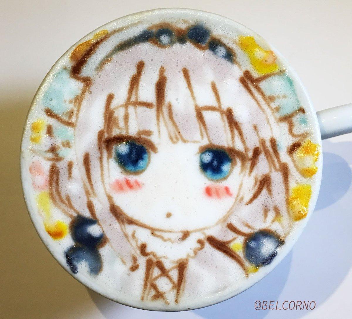 RT @BELCORNO: ラテアート【カンナ】@小林さんちのメイドラゴン LatteArt【Kobayashi's Dragon Maid】  #maidragon...